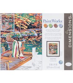 """Dimensions Paint By Number Kit 14""""X11"""" - Golden Pond"""