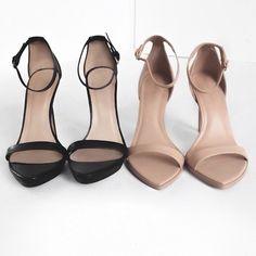 black & nude heels.