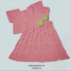 Delicadezas en crochet Gabriela: Conjunto de bebé vestido saquito