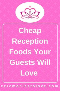 Wedding reception foods are one of the largest items in your wedding budget. With careful wedding planning and possibly some DIY, you can reduce your costs and have foods your wedding guests will love. Read for ideas. Cheap Wedding Food, Cheap Wedding Reception, Wedding Catering, Plan Your Wedding, Budget Wedding, Wedding Tips, Wedding Events, Wedding Day, Weddings