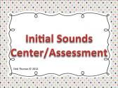 Initial Sounds Center/Assessment product from Fabulously-First on TeachersNotebook.com