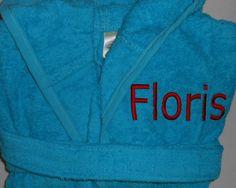 Badjasje Floris www.borduurkoning.nl/shop