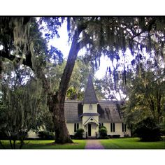 St. Simon Island, GA. Christ Church. One of the most beautiful sanctuaries I have ever seen. Historical stained glass windows. Beautiful grounds. Just lovely.