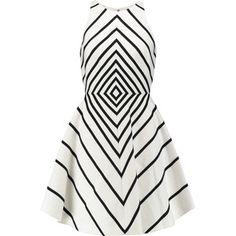 Halston Heritage Appliquéd cotton and silk-blend mini dress