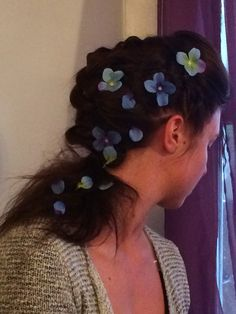 Fun braid and flowers