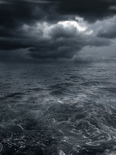 Picture of dark storm clouds and waves on the sea stock photo, images and stock photography. No Wave, Stürmische See, Kubo And The Two Strings, Stormy Sea, Stormy Waters, All Nature, Sea And Ocean, The Sea, To Infinity And Beyond