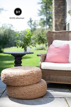 Repurpose old tyres for some outdoor footstools.   23 Home Decor DIYs For People Who Are Scared Of Power Tools