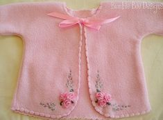 Handmade Baby Booties with ribbon roses. $28.00, via Etsy.