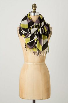 Love the colors and pattern on this Anthropologie scarf