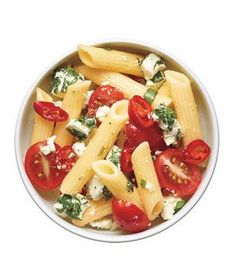 Pasta Salad With Tomatoes, Goat Cheese, and Chilies