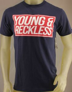 Young & Reckless navy blue T-shirt with red & white logo