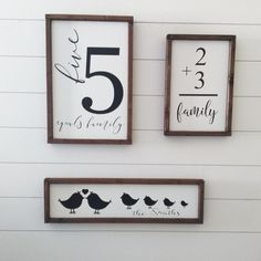 Family Bird Sign Lovebirds Sign Wood Sign Painted Wood