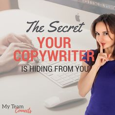 If you're short on money, but have some time to invest, learn to write your own copy. It's your smartest marketing investment. http://myteamconnects.com/the-secret-your-copywriter-is-hiding-from-you/?utm_campaign=coschedule&utm_source=pinterest&utm_medium=My%20Team%20Connects&utm_content=The%20Secret%20Your%20Copywriter%20Is%20Hiding%20From%20You #copywriting #content #marketing #blogging