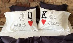 Ideas For Apartment Bedroom Design Couples Wedding Gifts Diy Wedding Gifts, Wedding Gifts For Couples, Personalized Wedding, Diy Gifts, Wedding Ideas, Bedroom Designs For Couples, Apartment Decorating For Couples, Apartment Ideas, Couple Pillowcase