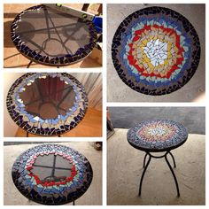 mosaic table - my DIY project