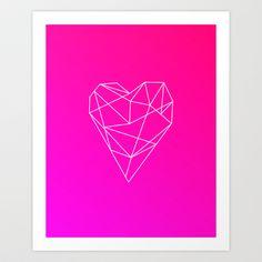 Geometric Heart Art Print by Maggie Martin Art - $17.00