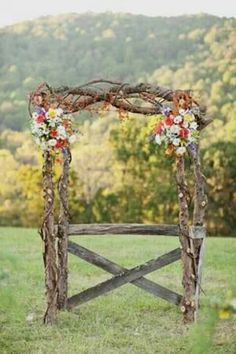 Simple arch with barn boards would be neat