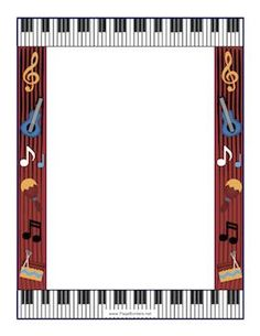 Free Music Borders Clip Art music note border Item 2