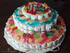 Torte di caramelle per feste e compleanni, candy cake, come prepararle in modo semplice e veloce, basta un po' di fantasia.