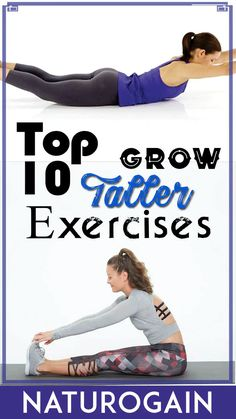 TOP 10 GROW TALLER EXERCISES This video describes top 10 exercises for girls to grow taller after 18 naturally with best natural height increase supplements. Full Body Gym Workout, Gym Workout Videos, Gym Workout For Beginners, Fitness Workout For Women, Increase Height Exercise, Tips To Increase Height, Get Taller Exercises, Stretches To Grow Taller, Fitness Herausforderungen