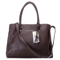 Michael Kors Hamilton Tote, Ostrich-Embossed Coffee|michael kors handbags