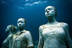 Grenada - Moliniere Bay, near St. George's, features a unique group of underwater sculptures that were created by a local artist.