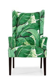 C.R. Laine's Copley armchair in Dorothy Draper's Brazillance- Looks like Caravan chair with her fabric on it!