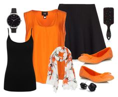 """Today's Outfit - Orange for Harmony Day"" by beavercity on Polyvore featuring Zara, Class Roberto Cavalli, JustFab, M&Co, Dolce&Gabbana, Olivia Burton and Forever 21"