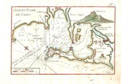 Plano de la Bahía de Cádiz del siglo XVIII Cádiz y provincia - Grabados Laurence Shand