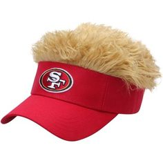 a11396caa78ee San Francisco 49ers Flair Hair Visor Hair With Flair
