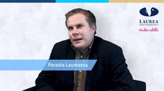 Antti Seppinen speaks about his own experiences in Laurea.