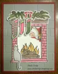 Afbeeldingsresultaat voor festive fireplace stampin up
