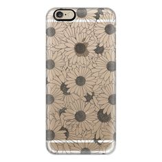 iPhone 6 Plus/6/5/5s/5c Case - Daisies Transparent ($40) ❤ liked on Polyvore featuring accessories, tech accessories, iphone case, iphone cover case, slim iphone case, apple iphone cases and transparent iphone case