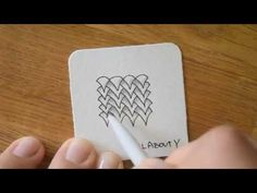 Zentangle® Pattern: All About V - YouTube
