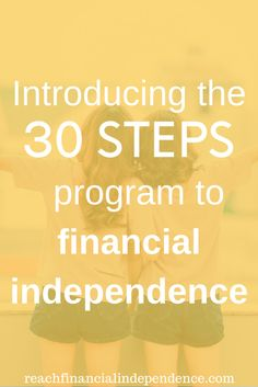 I'm happy to announce my 30 days series about how to reach financial independence. This is not a bootcamp to get your finances in order, more a guideline on how to get started on the way to financial independence. Make More Money, Ways To Save Money, Money Tips, Money Saving Tips, Business Quotes, Business Tips, Business Writing, Step Program, Frugal Tips