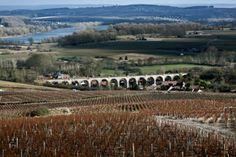 Vue sur Ménétréol et Thauvenay Domaine Eric Louis, Vins de Sancerre