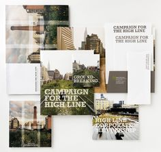 The communications materials produced for Friends of the High Line cumulatively provided the organization with a powerful image.