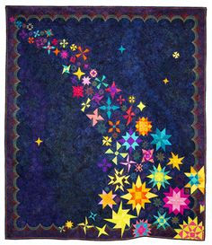 """Starlight"" by Mara Novak and Kathie Beltz.  2014 Vermont Quilt Festival.  Best Young Quilter award."
