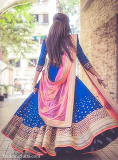 Colorful bridal outf