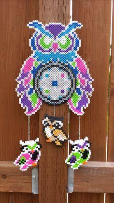 Perler bead Owl Dreamcatcher.