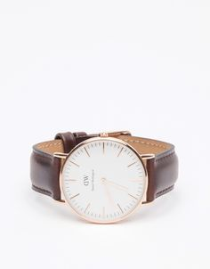 Classic Bristol Lady // women's watch in rose gold and brown leather by Daniel Wellington for Need Supply Co.