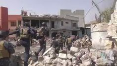 Iraq Federal police units urban warfare in Mosul old district.
