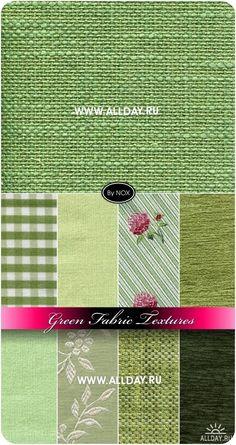 Green Fabric Textures - Зеленая ткань, текстуры