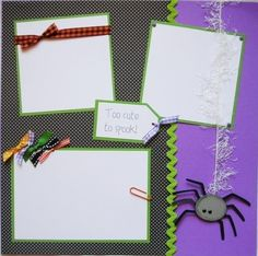 BABY'S FIRST HALLOWEEN 12x12 Premade Scrapbook Pages BaBY. $25.00, via Etsy.