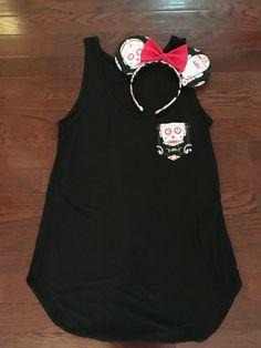 Disney Pocket Tee & Matching Minnie Ears #diy #starwars #dayofthedead #halloween