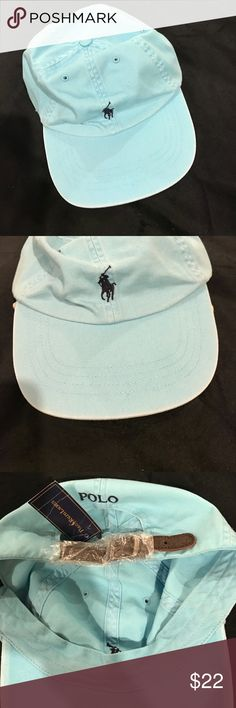 Ralph Lauren Polo Ball Cap Blue denim with navy polo.  Adjustable strap. Polo by Ralph Lauren Accessories Hats