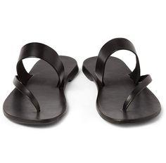 Leather Handmade Mens Sandals Flip Flops Slippers