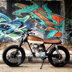 """motomood: """"Honda CB100 street tracker """""""
