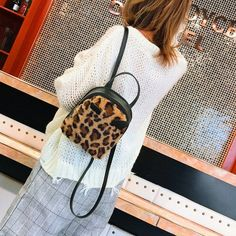 Leopard Mini Bag New Multi-use Ins Super Backpack Wild Small Backpack . Small Backpack, Backpack Bags, Fashion Backpack, Flannel Fashion, Cool Yoga Poses, Work Bags, Bag Sale, Mini Bag, Kids Fashion