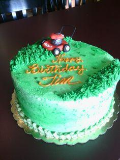 Birthday cake w/Fondant lawn mower